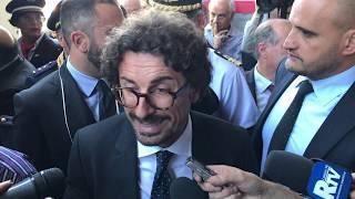 Il ministro dei trasporti Danilo Toninelli a Reggio Calabria