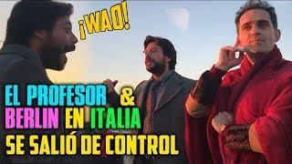El Profesor y Berlin en Italia - se salió de control - La Casa de Papel