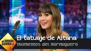 Aitana explica el significado de su tatuaje del girasol - El Hormiguero 3.0