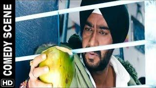 hindi comedy scenes Son of sardaar train comedy scene ¦¦ ajay devgan, sonakshi sinha comedy