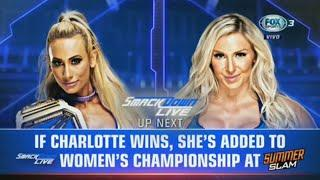 Carmella Vs Charlotte Flair - Smackdown Live 31 Julio 2018 (En Español)