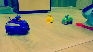 PAW Patrol Funny Clip 4 Toy Cars Attacked