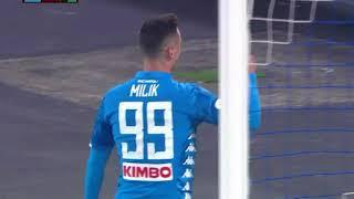 Milik Goal Gol Napoli-Sassuolo 1-0 highlights hd - Coppa Italia - 13/01/2019