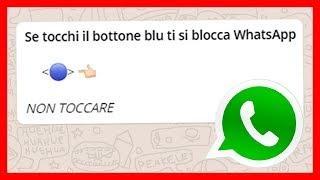 Se tocchi il bottone blu ti si blocca WhatsApp - NUOVO BUG