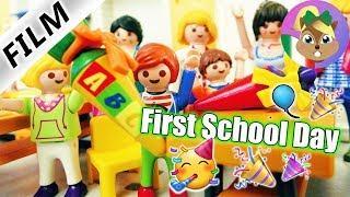 Playmobil film italiano PRIMO GIORNO DI SCUOLA PER JULIAN - inizio scula 2018   famiglia Vogel