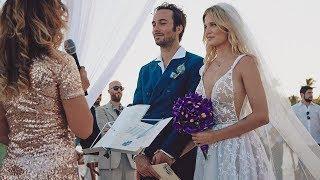 Liz Solari tuvo una boda espiritual en la playa: su increíble vestido de novia
