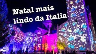 Iluminação de Natal mais linda que já vi na Italia