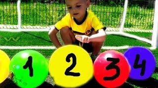 Learn Colors with Dancing Balls on Skip To my Lou Song