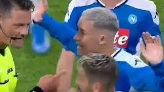 Napoli-Atalanta 2-2: l'arbitro Giacomelli spintona Callejon