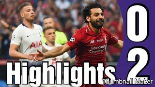 Tottenham vs Liverpool 0-2 highlights Resumen All goals Champions League Final 1/06/2019