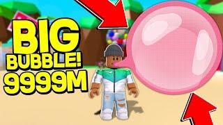 BIGGEST BUBBLE EVER!! | Roblox Bubble Gum Simulator