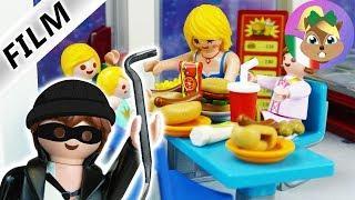 Playmobil film italiano  SCHNOSEL RUBANO AL BAR  famiglia Vogel