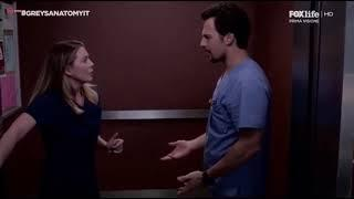 GREY'S ANATOMY 15 - Scena finale in ascensore Meredith e Deluca / Teddy Amelia e Owen