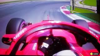 Onboard Sebastian Vettel Ferrari F1 RedBull Ring AUSTRIAN GP 2018 [1080p]