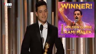 Rami Malek Golden Globe Winner Best Actor Bohemian Rhapsody Movie Acceptance Speech