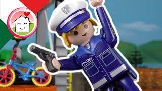 Playmobil polizia film italiano Il ladro di biciclette - Famiglia Hauser - cartoni per bambini