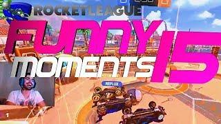 ROCKET LEAGUE FUNNY MOMENTS 15 ???? (FUNNY REACTIONS, FAILS & WINS BY COMMUNITY & PROS!)