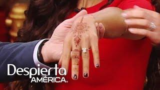 Francisca Lachapel regresó con anillo de compromiso y un nuevo tatuaje