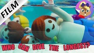 Playmobil příběh | Soutěž v potápění | Kdo vydrží pod vodou nejdéle? | Rodina Dvořákova