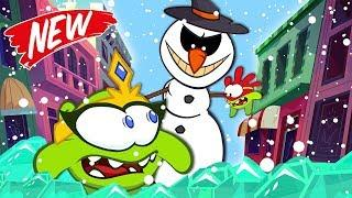 Om Nom Stories: SUPER NOMS VS GIANT EVIL SNOWMAN New Episode Cut The Rope | Funny Cartoons for Kids