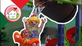 Playmobil film italiano Il grande barile al parco acquatico- Famiglia Hauser - cartoni per bambini