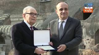 Il maestro Morricone premiato al Colosseo