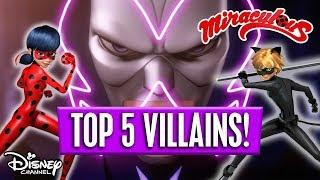 Top 5  Evil VILLAINS ????   Miraculous Ladybug   Disney Channel Africa
