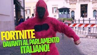 BALLI DI FORTNITE DAVANTI AL PARLAMENTO ITALIANO - Ho Rischiato l'ARRESTO!!