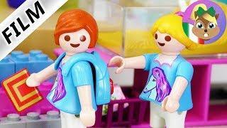 Playmobil film italiano   JULIAN va a scuola al posto di Hannah! Sosia?  Famiglia Vogel