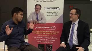 3653 Aurelio Mejia, entrevista Hipnosis en Madrid, con Shanon Díaz de Perú, junio 2018