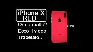 iPhone X RED ITA Adesso è ufficiale? Ecco il video dove si vede iphone X Red in uscita..