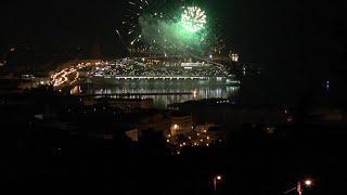 I fuochi d'artificio per Costa Venezia: duemila ospiti a bordo per la cena di gala
