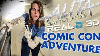 """Alita: Battle Angel"" TRANSFORMATION at Comic Con!!"
