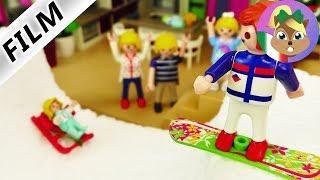 Playmobil film italiano| RAMPA DI NEVE a casa Vogel-Snowboard in casa| famiglia Vogel