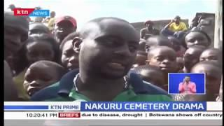 Drama at Nakuru south cemetry as family exumes body after court order allowed the action