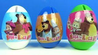 Maşa ile Koca Ayı Sürpriz Yumurta Masha and the Bear Surprise Egg with Toys Figure Funny Play Doh