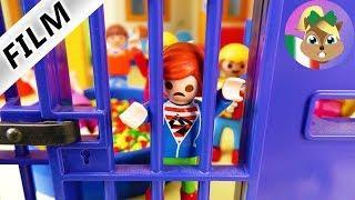 Playmobil film italiano   L'ASILO DIVENTA PRIGIONE! Julian incarcerato  famiglia Vogel