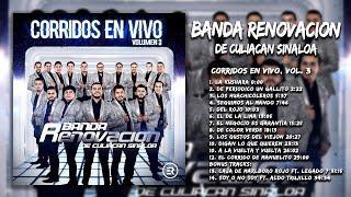 Banda Renovacion -  Corridos En Vivo, Vol. 3 (Disco Completo)
