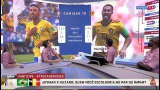 Neymar do Brasil ou Hazrd da Bélgica quem é melhor 03 07 2018