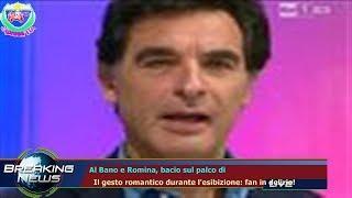 AL BANO E ROMINA, BACIO SUL PALCO DI   IL GESTO ROMANTICO DURANTE L'ESIBIZIONE: FAN IN DELIRIO!