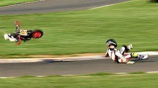 Minibikes Drama! Cool FAB Minibikes 2018 Rd 7, Pitbike 140 & Moto Team Race