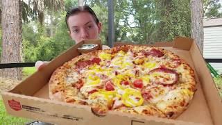 Papa John's NEW Italian Hero Pizza Review
