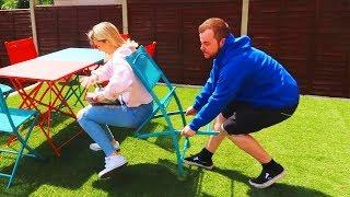 Funny Chair Pulling Prank on Girlfriend! ????????