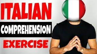 ITALIAN COMPREHENSION EXERCISE (Live) - video in Italian