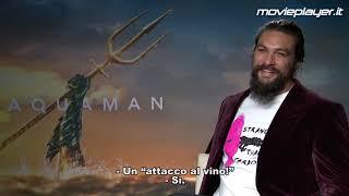 """Jason Momoa è Aquaman: """"C'è molto di me in lui: e io amo Roma e il vino italiano!"""""""
