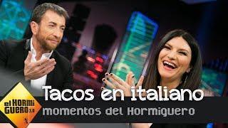 """Laura Pausini le enseña a Pablo Motos un taco en italiano: """"Es la pinga"""" - El Hormiguero 3.0"""