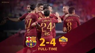 Barcelona vs Roma 2-4 ITA Highlights & All Goals HD 01/08/2018