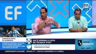 Comentaristas questionam a convocação de alguns jogadores na lista de Tite, Edmundo critica Felipe L